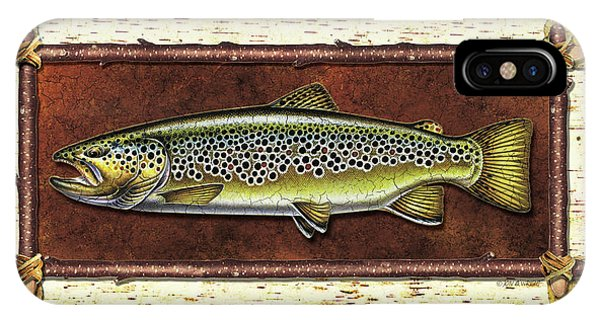 Trout iPhone Case - Brown Trout Lodge by JQ Licensing