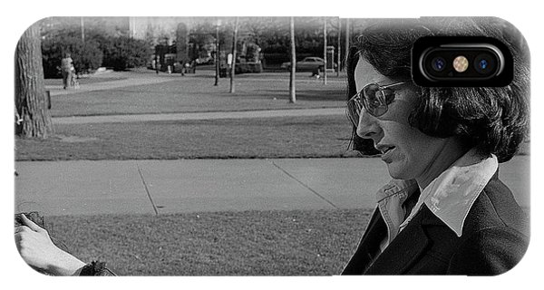 Brown University Student And His Mother, 1975 IPhone Case