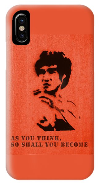 Bruce Lee - So Shall You Become IPhone Case