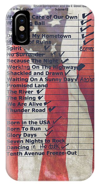 Bruce Springsteen Setlist At Rock In Rio Lisboa 2012 IPhone Case