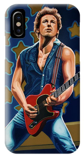 Rock And Roll iPhone Case - Bruce Springsteen The Boss Painting by Paul Meijering