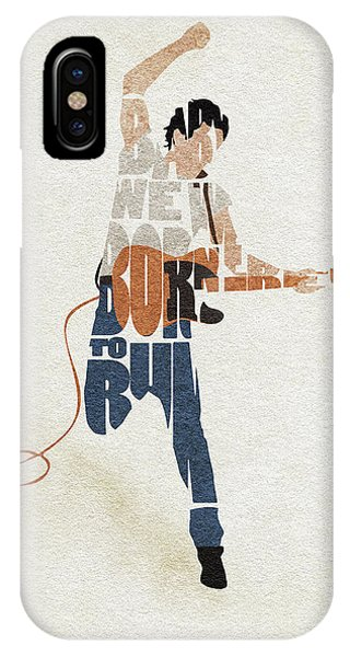 Bruce Springsteen Typography Art IPhone Case