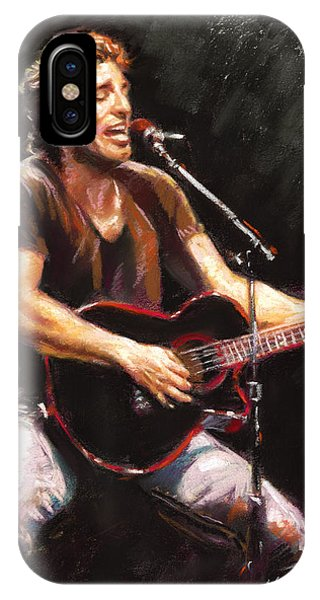 Rock And Roll iPhone Case - Bruce Springsteen  by Ylli Haruni