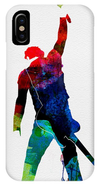 American iPhone Case - Bruce Watercolor by Naxart Studio
