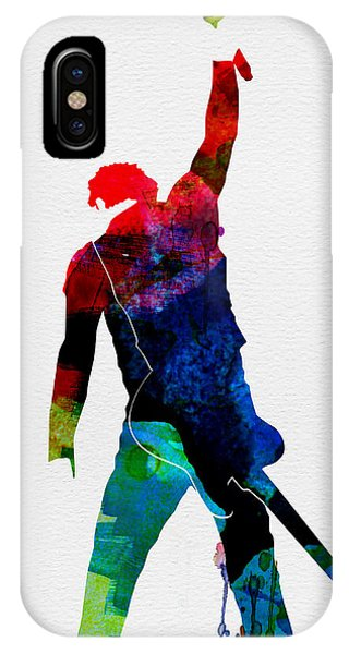 Musicians iPhone X Case - Bruce Watercolor by Naxart Studio