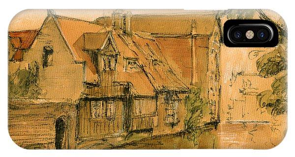 Bruges City Watercolor IPhone Case