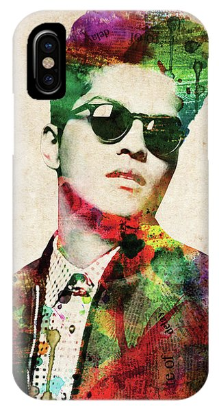 Famous People iPhone Case - Bruno Mars by Mihaela Pater