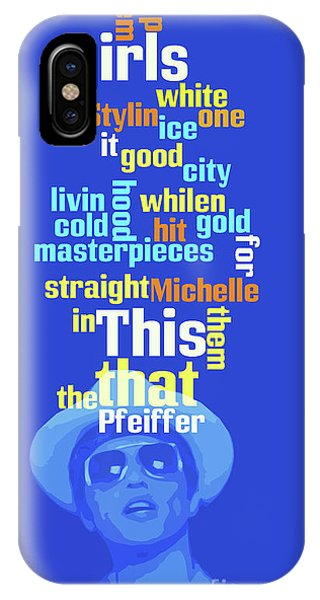 Michelle iPhone Case - Bruno Mars, Order The Words. Do You Know This Song? by Pablo Franchi