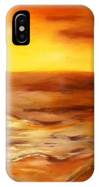 Brushed 5 - Vertical Sunset IPhone Case