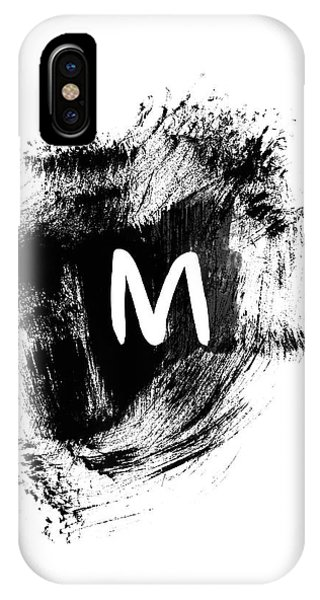 Brushstroe M -monogram Art By Linda Woods IPhone Case