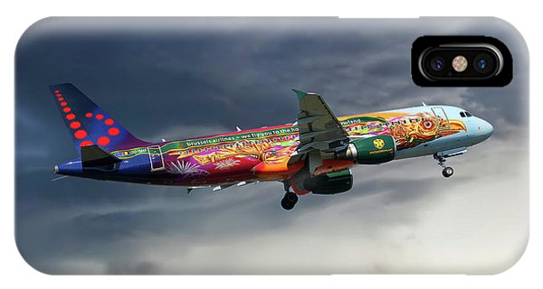 Airline iPhone Case - Brussels Airlines Airbus A320-214 by Smart Aviation