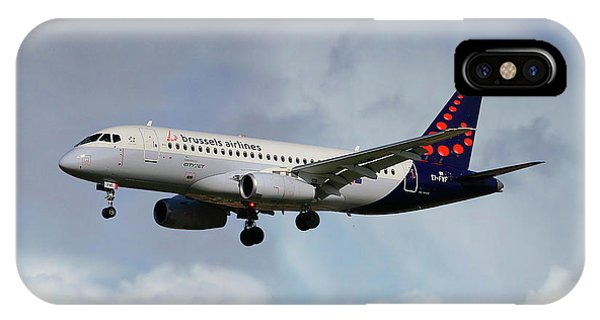 100 iPhone Case - Brussels Airlines Sukhoi Superjet 100-95b by Smart Aviation