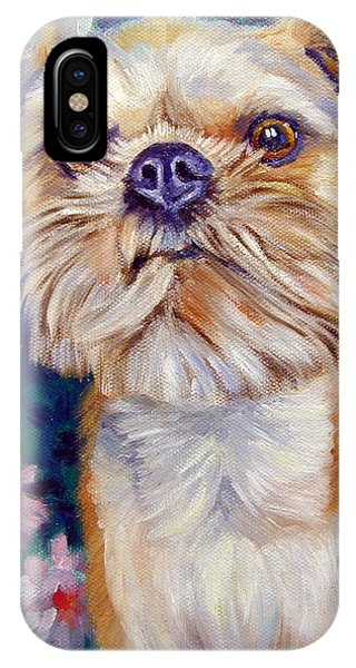 Griffon iPhone Case - Brussels Griffon by Lyn Cook