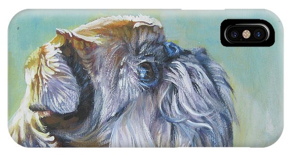 Griffon iPhone Case - Brussels Griffon With Butterfly by Lee Ann Shepard