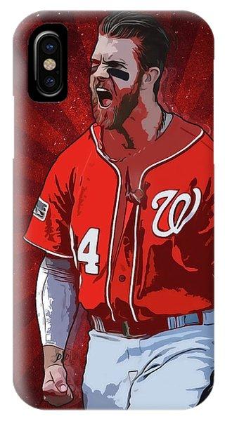Boston Red Sox iPhone Case - Bryce Harper by Semih Yurdabak