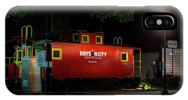 Red Caboose iPhone Case - Bryson City  Caboose by Greg and Chrystal Mimbs