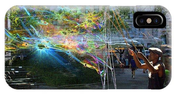Bubble Maker Collage 1 IPhone Case