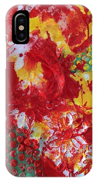 IPhone Case featuring the painting Bubble Wrap Plus by Karen bertha Calderon