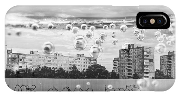 Bubbles And The City IPhone Case