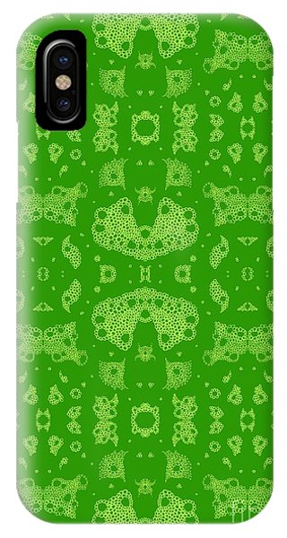 Bubbles In Harmony - Shades Of Green IPhone Case