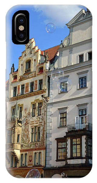 iPhone Case - Bubbles In Old Town Square Prague by Kathy Yates