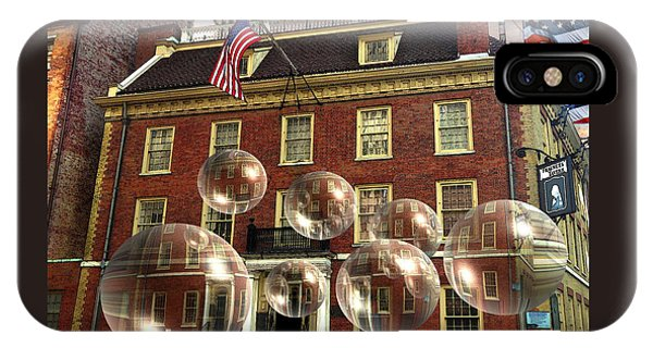 Bubbles Of New York History - Photo Collage IPhone Case