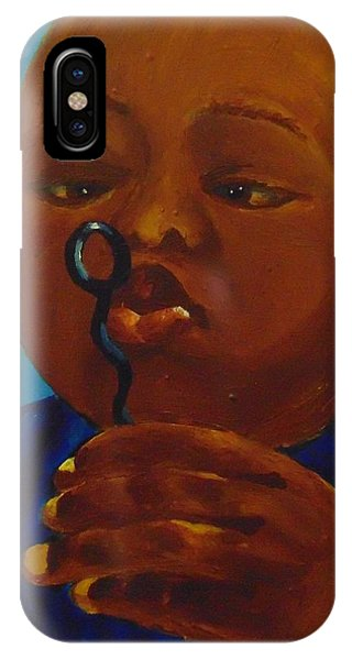 IPhone Case featuring the painting Bubbles by Saundra Johnson