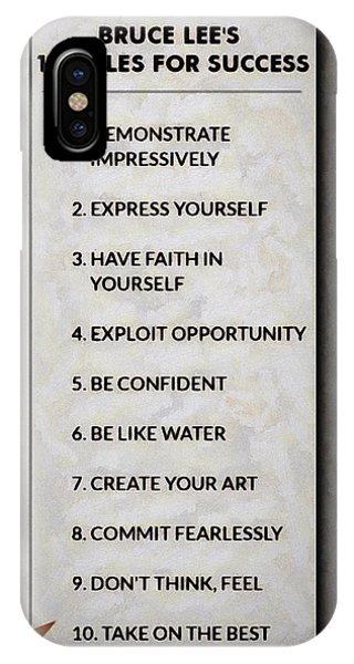 Buce Lee 10 Rules Of Success IPhone Case