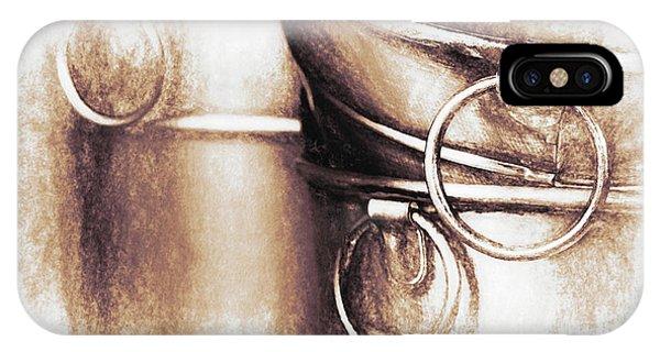 Stainless Steel iPhone Case - Bucket Art by Tom Mc Nemar