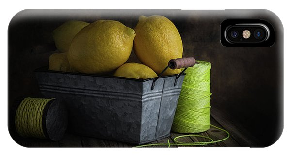 Container iPhone Case - Bucket Of Lemons by Tom Mc Nemar