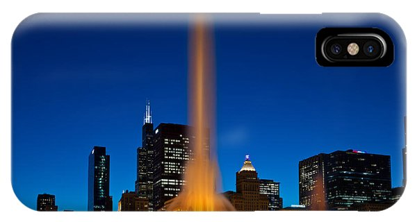Chicago iPhone Case - Buckingham Fountain Nightlight Chicago by Steve Gadomski