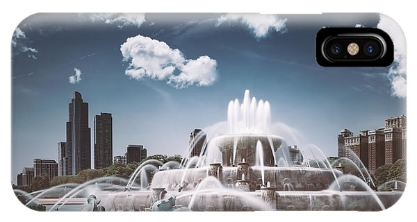 Jet iPhone Case - Buckingham Fountain by Scott Norris