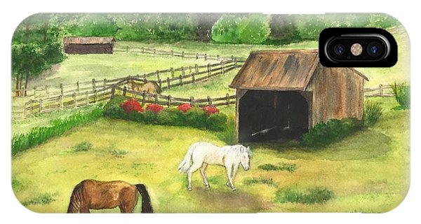 Bucks County Horse Farm IPhone Case