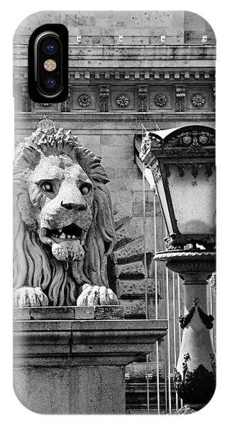 iPhone Case - Budapest Chain Bridge Lion by Kathy Yates