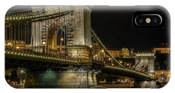 IPhone Case featuring the photograph Budapest Chain Bridge by Steven Sparks