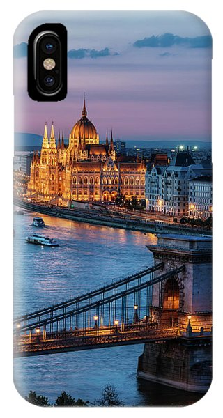 Budapest City At Dusk IPhone Case