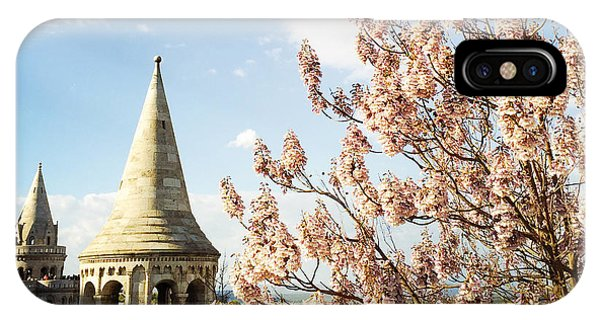 Blossom iPhone Case - Budapest Fishermans Bastion by Matthias Hauser