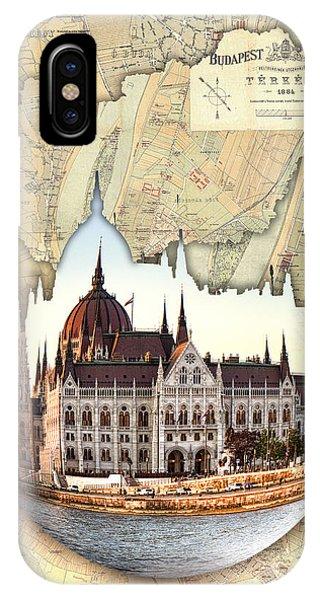 Budapest Globe Map IPhone Case