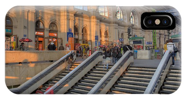 Budapest Train Station 2 IPhone Case