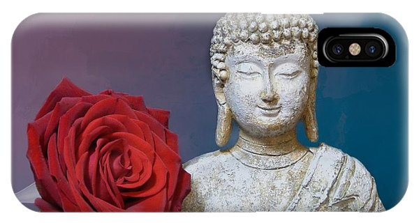 Buddha And Rose IPhone Case