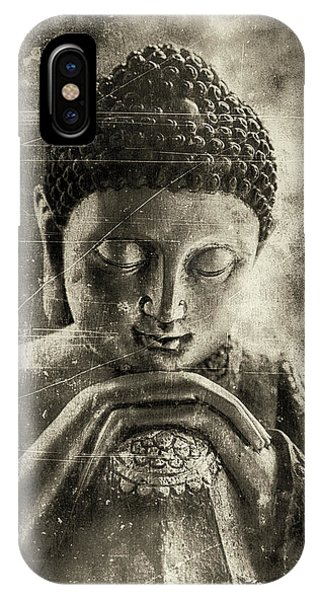Siddharta iPhone Case - Buddha Dark Sepia by Madeleine Forsberg