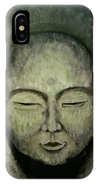 Buddha In Green IPhone Case