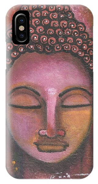 Buddha In Shades Of Purple IPhone Case