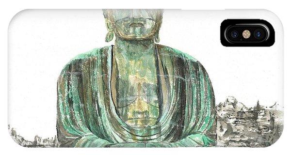 Buddha Of Kamakura Statue IPhone Case