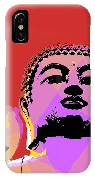Siddharta iPhone Case - Buddha Pop Art  by Jean luc Comperat