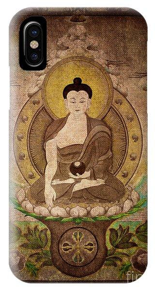 Buddha Thangka Silver IPhone Case