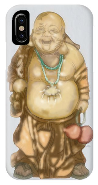 IPhone Case featuring the mixed media Buddha by TortureLord Art