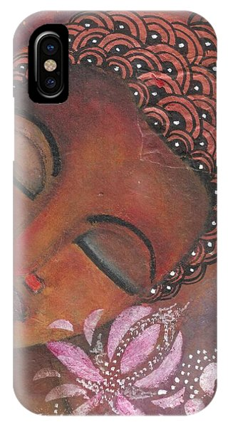 Buddha With Pink Lotus IPhone Case