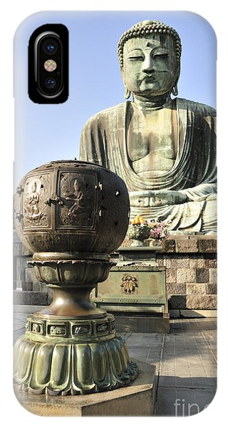 Buddha With Urn Phone Case by Andy Smy