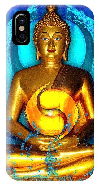 Buddha Yin Yang IPhone Case
